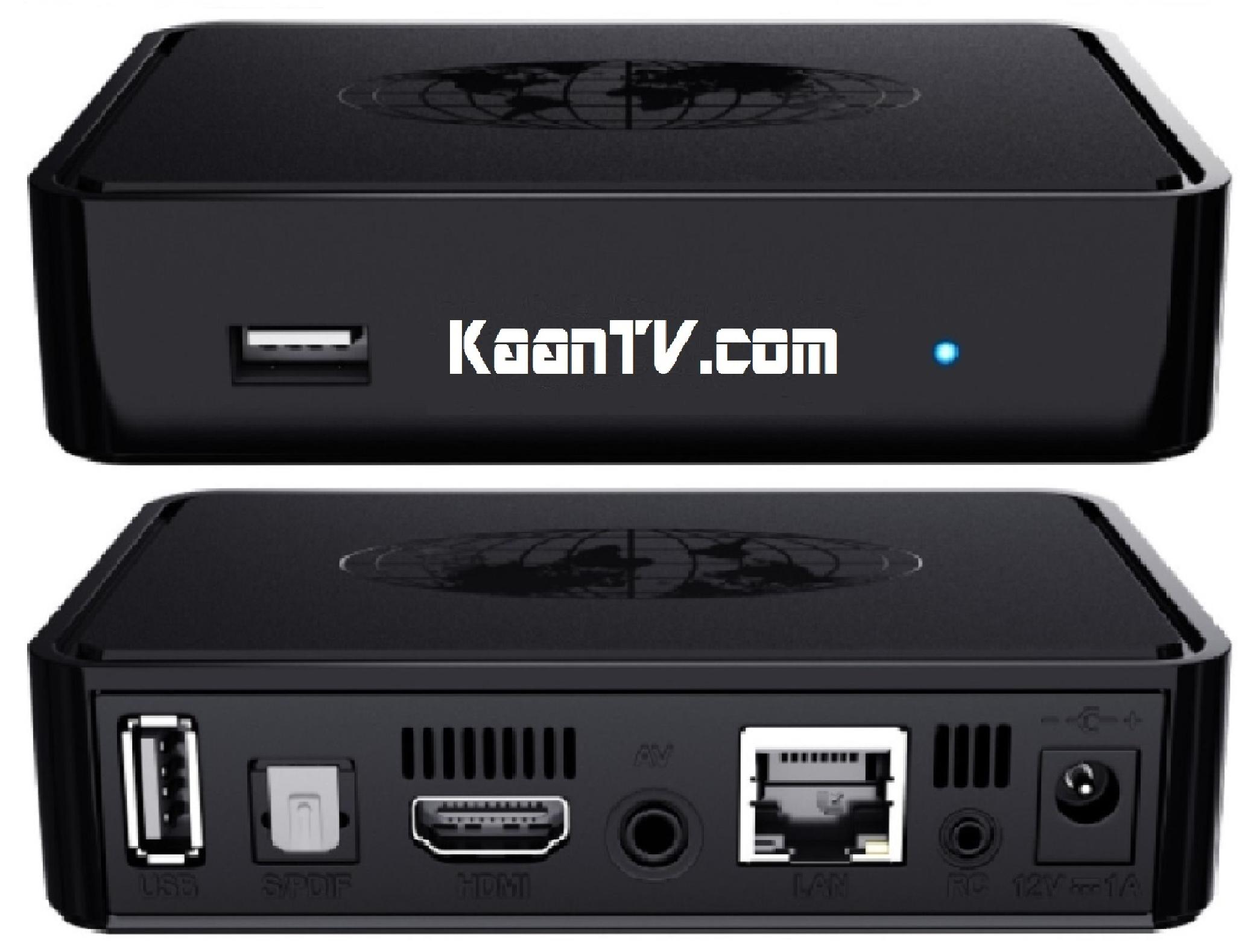 IPTV Box Mag 322 Vorder und Rückseite abgebildet und die Schnittstelle